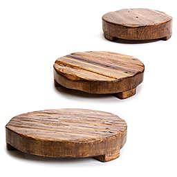 etuHOME® Round Reclaimed Wood Trivet
