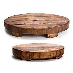 etuHOME® Oval Reclaimed Wood Trivet