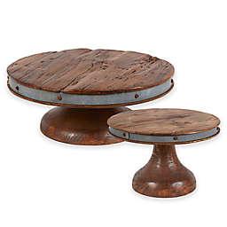 etuHOME® Reclaimed Wood Cake Stand