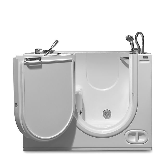 Alternate image 1 for Hydrolife 51-Inch x 29.5-Inch Walk-In Air-Jet Bath Tub with Door on Right in White