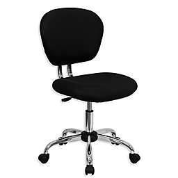 Flash Furniture Mid-Back Mesh Swivel Task Chair in Black