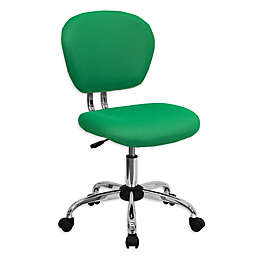 Flash Furniture Mid-Back Mesh Swivel Task Chair in Green