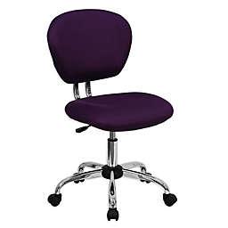 Flash Furniture Mid-Back Mesh Swivel Task Chair in Purple