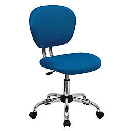 Flash Furniture Mid-Back Mesh Swivel Task Chair in Turquoise