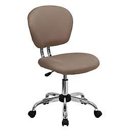 Flash Furniture Mid-Back Mesh Swivel Task Chair in Brown
