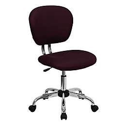 Flash Furniture Mid-Back Mesh Swivel Task Chair in Burgundy