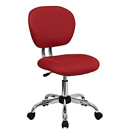 Flash Furniture Mid-Back Mesh Swivel Task Chair in Red