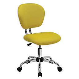 Flash Furniture Mid-Back Mesh Swivel Task Chair in Yellow