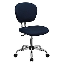 Flash Furniture Mid-Back Mesh Swivel Task Chair in Navy