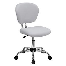 Flash Furniture Mid-Back Mesh Swivel Task Chair in White