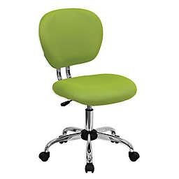 Flash Furniture Mid-Back Mesh Swivel Task Chair in Green