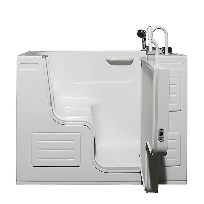 Alternate image 1 for Hydrolife 51-Inch x 29.5-Inch Deluxe Walk-In Bath Tub with Door on Right in White
