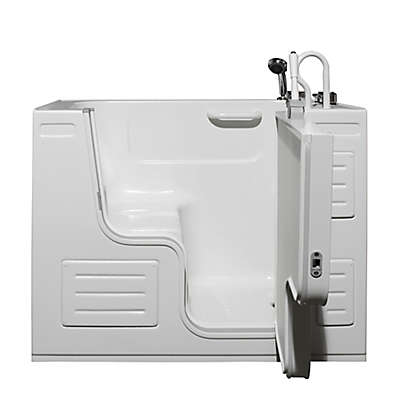 Hydrolife 51-Inch x 29.5-Inch Deluxe Walk-In Bath Tub with Door Collection in White