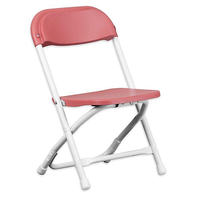 Alternate image 1 for Flash Furniture Kids Plastic Folding Chair in Burgundy