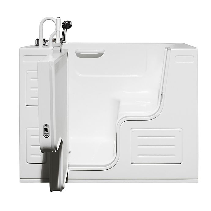 Alternate image 1 for Hydrolife 51-Inch x 29.5-Inch Deluxe Walk-In Bath Tub with Door on Left in White