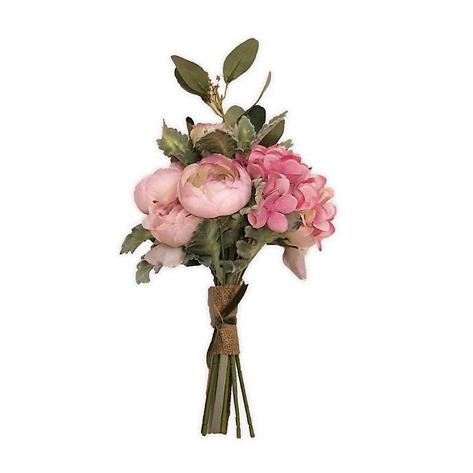 Alternate image 1 for New York Botanical Garden® Madeleine Medium Faux Hydrangea Bouquet in Pink