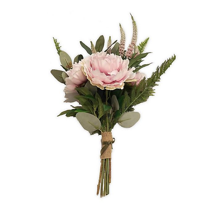 Alternate image 1 for New York Botanical Garden® Bernadette Large Faux Peony Bouquet in Pink