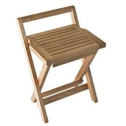 ARB Teak & Specialties Folding Teak Wood Shower Bench in Natural