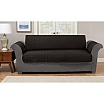 Pawslife™ Reversible Plush Quilt Sofa Furniture Cover in Black/Grey