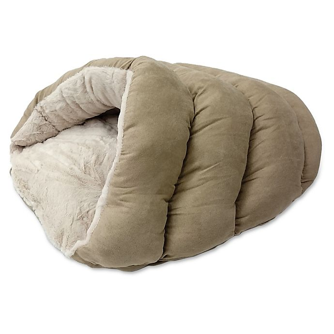 Alternate image 1 for Sleep Zone Cuddle Cave Pet Bed in Tan