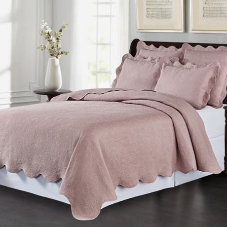 Buy Lyon Matelass 233 Twin Coverlet Set In Wisteria From Bed