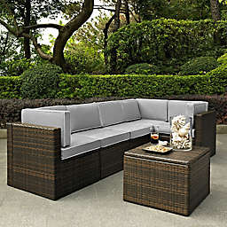 Crosley Palm Harbor 6-PieceAll-Weather Resin-Wicker Sectional Set