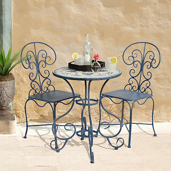 Alternate image 1 for Bombay® Outdoor Toulouse 3-Piece Bistro Set in Brown