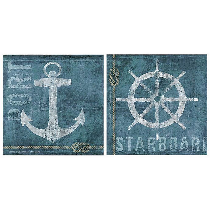Alternate image 1 for Thirstystone® Coastal Port & Starboard Coasters (Set of 4)