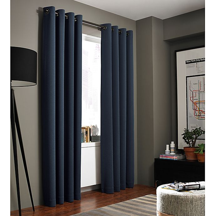 Alternate image 1 for Kenneth Cole Reaction Home Bryant Park Grommet Top Window Curtain Panel