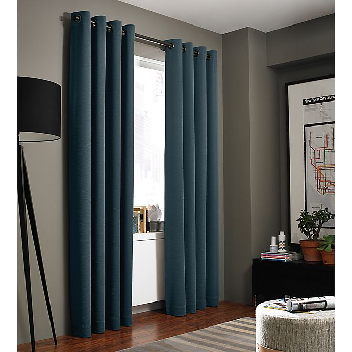 Alternate image 1 for Kenneth Cole Reaction Home Bryant Park 63-Inch Grommet Top Window Curtain Panel in Azure