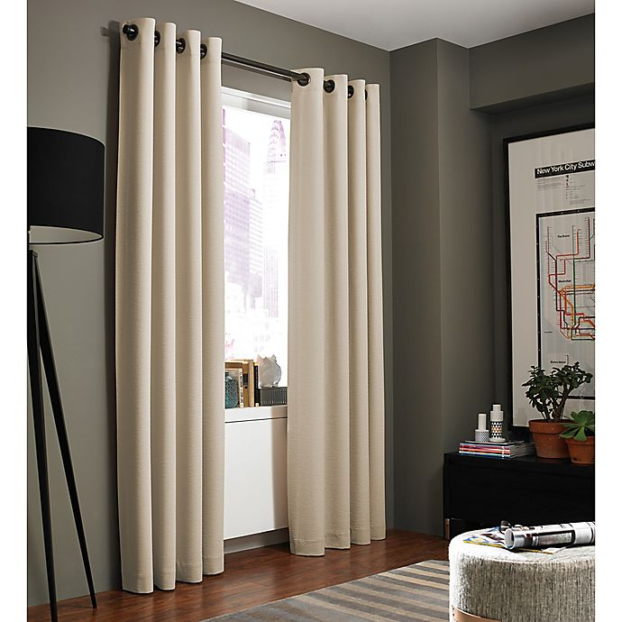 Alternate image 1 for Kenneth Cole Reaction Home Bryant Park 63-Inch Grommet Top Window Curtain Panel in Hemp