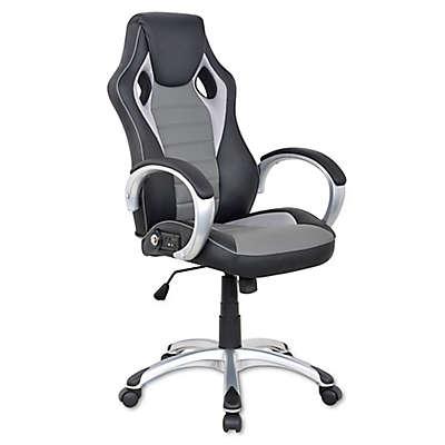X Rocker Sound Office Chair in Black/Grey