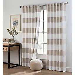 Cambree Stripe Rod Pocket Window Curtain Panel