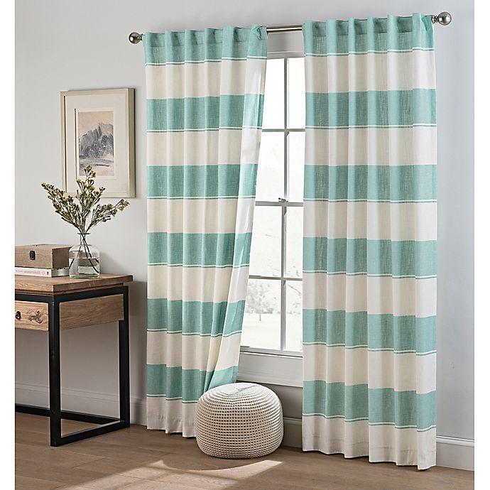 Alternate image 1 for Cambree Stripe Rod Pocket Window Curtain Panel