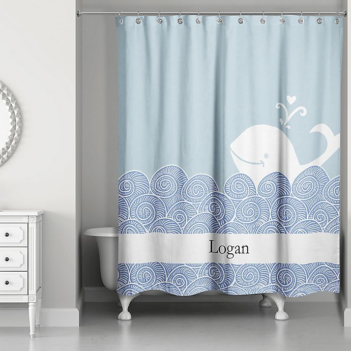 Alternate image 1 for Designs Direct First Mate Shower Curtain in Blue