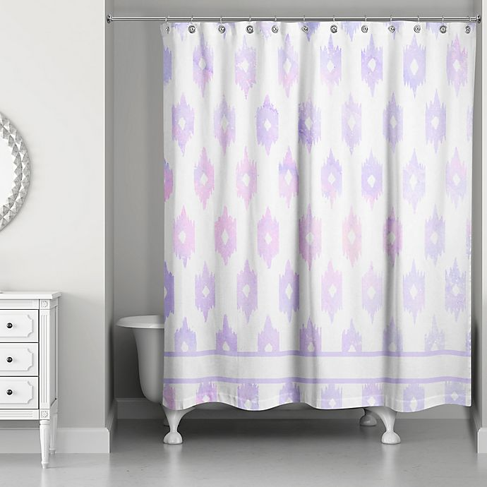 Designs Direct Southwestern Shower Curtain In Blue