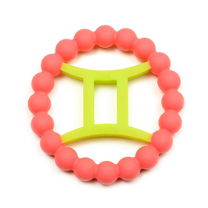 Alternate image 1 for chewbeads® Baby Zodies Gemini Teether in Pink