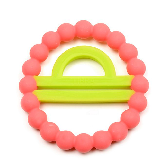 Alternate image 1 for chewbeads® Baby Zodies Libra Teether in Pink