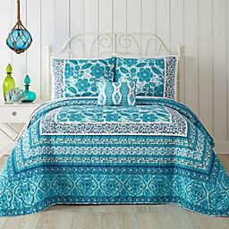 Jessica Simpson Aqua Flora Quilt in Blue