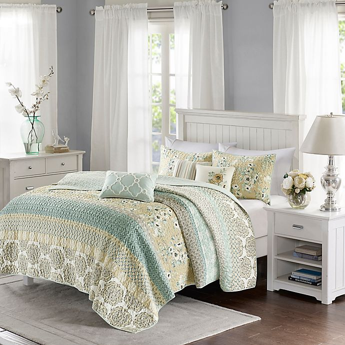 Alternate image 1 for Madison Park Willa 6-Piece King/California King Coverlet Set in Green