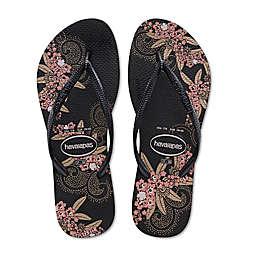 b9373707eb15b Havaianas® Slim Organic Women s Sandal in Black Gold