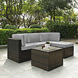 Crolsey Palm Harbor 5-Piece Outdoor Wicker Sectional Set