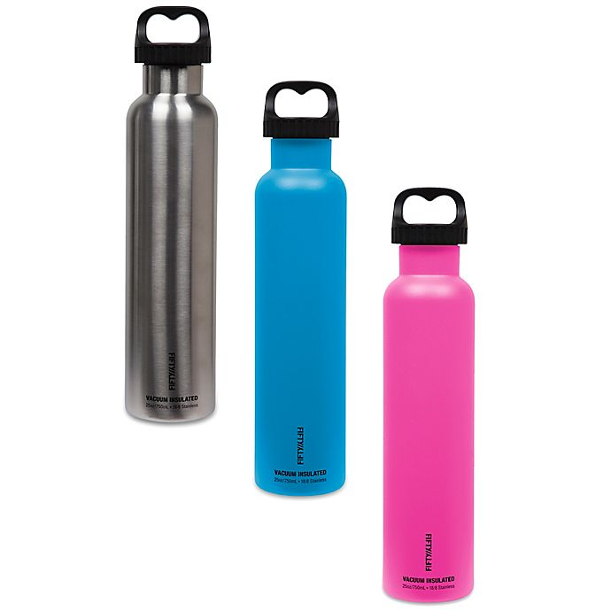 Alternate image 1 for FIFTY/FIFTY Double-Wall Vacuum-Insulated 18 oz. Water Bottle with Wide Mouth