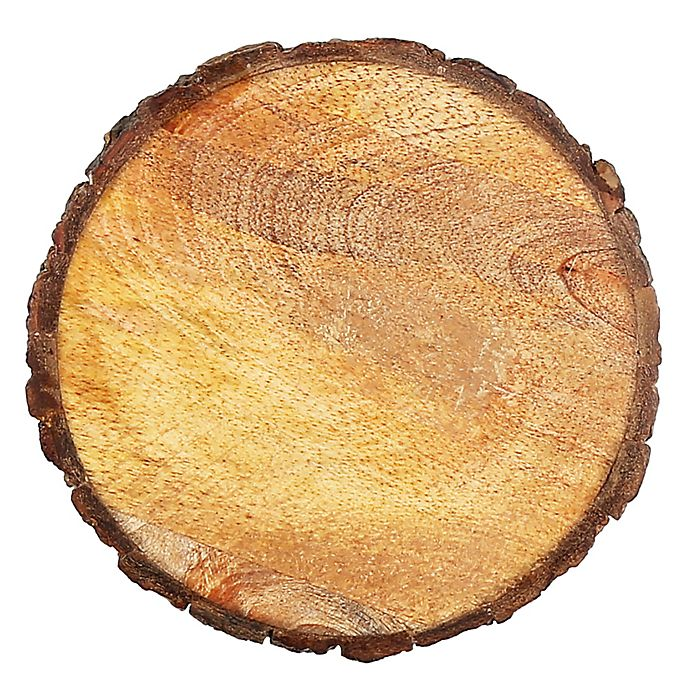 Alternate image 1 for Thirstystone® Round Mango Wood Stump Individual Coaster