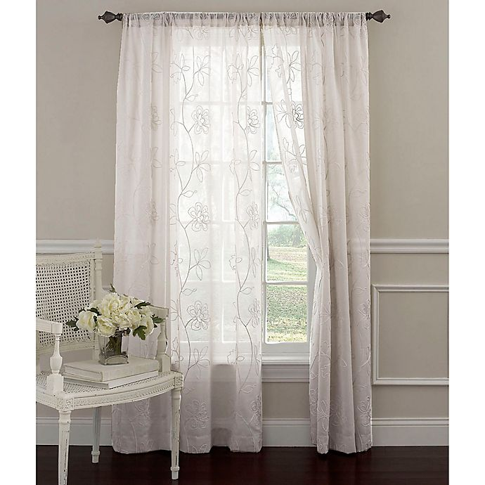 Alternate image 1 for Laura Ashley® Frosting 84-Inch Window Curtain Panel in White