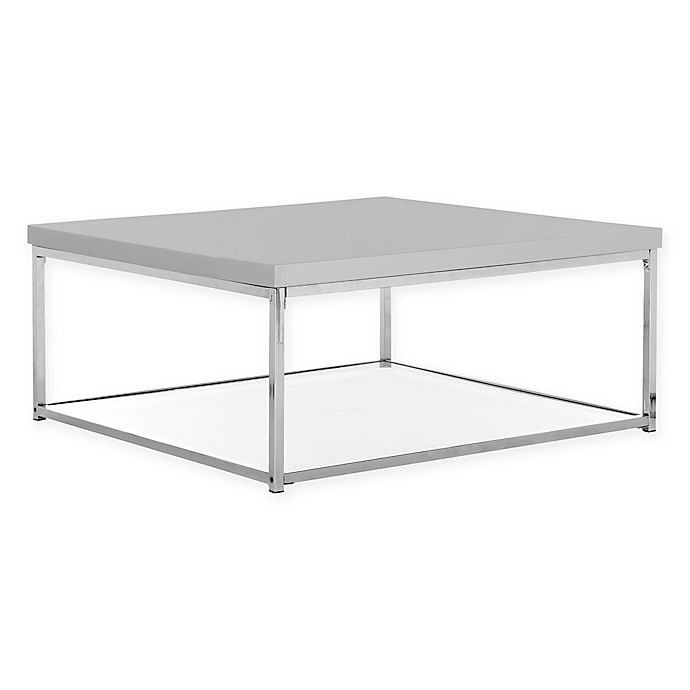 Safavieh Malone Chrome High Gloss Coffee Table Bed Bath