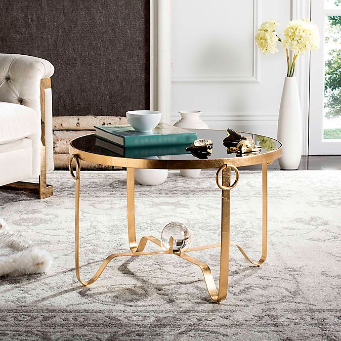 Buy Gold Coffee Table: Buy Safavieh Elisha Gold Leaf Round Coffee Table From Bed