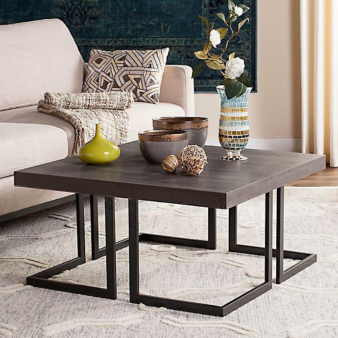 Mid Century Coffee Table Black: Safavieh Amalya Modern Mid Century Wood Coffee Table In