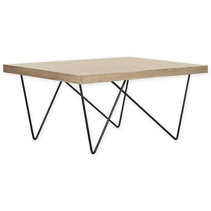 Alternate image 1 for Safavieh Amos Retro Mid Century Wood Coffee Table in Light Grey/Black