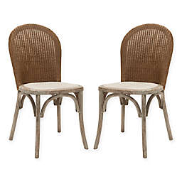 Safavieh Kioni Rattan Side Chairs in Taupe (Set of 2)